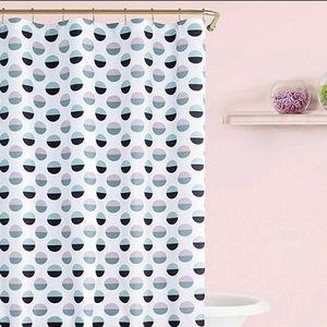 NWT Kate Spade Half Dot Shower Curtain Purple Aqua